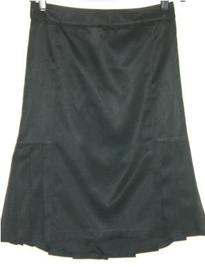 TSE Black Silk Skirt