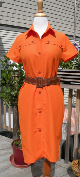 Project MyWay 25 Orange Linen Dress